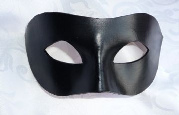 Mens Genuine Handmade Italian Leather Shaped Half mask other colours on request